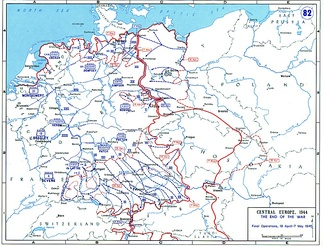 The final operations of the Western Allied armies between 19 April and 7 May 1945 and the change in the Soviet front line over this period.