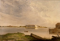 Fort Delaware, circa 1870 by Seth Eastman (1808 - 1875).
