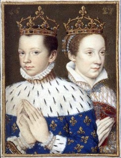 A young Mary, Queen of Scots and her husband, Francis II of France shortly after his coronation
