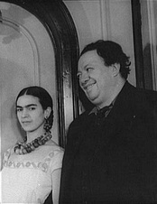 Frida Kahlo and Diego Rivera in 1932, photo by: Carl Van Vechten