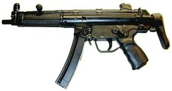 The Heckler & Koch MP5 submachine gun is widely used by law enforcement tactical teams and military forces.