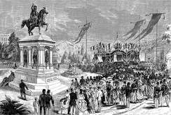 Inauguration of the statue of Charlemagne, 26 July 1868