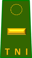 The second lieutenant rank insignia of the Indonesian Army