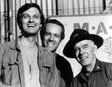 As Colonel Potter in M*A*S*H with Alan Alda and Mike Farrell