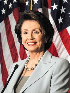 Nancy Pelosi, 52nd Speaker of the United States House of Representatives (2007–2011, 2019–), the only woman to hold the position.