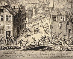 Oudewater was conquered by the Spanish on 7 August 1575, and most of its inhabitants were killed.