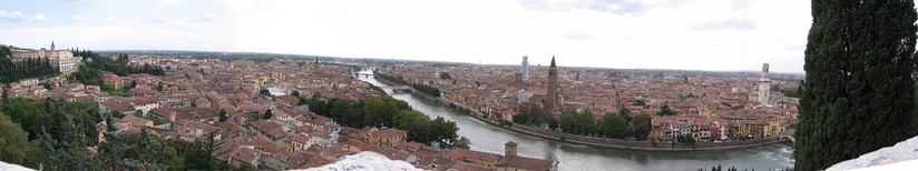 Panoramic view of the city from Castel San Pietro