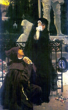 Don Juan and Doña Ana in The Stone Guest by Ilya Repin
