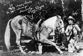Publicity photo of Roy Rogers and Trigger