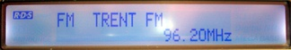 Typical radio display showing the PS name (programme service) field.