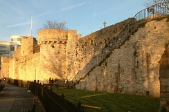 Part of Southampton's Town Walls