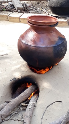Traditional way of making food