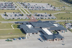 Aerial photo of Tyler Pounds Regional Airport