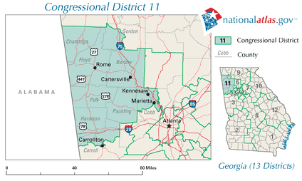 Georgia's 11th congressional district in 2010
