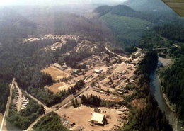 Aerial view of Woss