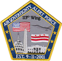 113th Wing Air Sovereignty Alert Force (Operation Noble Eagle, 2001