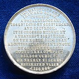 1851 medal The Crystal Palace in London by Allen & Moore, reverse