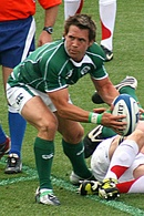A player about topass the ball