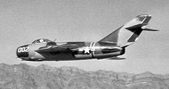 "HAVE FERRY, the second of two MiG-17F Frescos ""loaned"" to the United States by Israel in 1969."