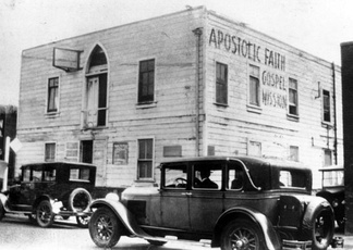 The Apostolic Faith Mission on Azusa Street, now considered to be the birthplace of Pentecostalism
