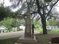 Allan Shivers monument at Texas State Cemetery in Austin, Texas
