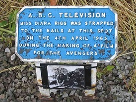 Film location plate presented by ABC TV to the Stapleford Miniature Railway, which is still in use today