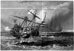The wreck of the Corbin, 1865