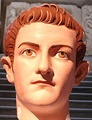 Reconstruction of the original polychromy of a Roman portrait of emperor Caligula