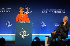 President of Brazil Dilma Rousseff opens Clinton Global Initiative Latin America in Rio de Janeiro, 2013