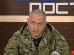 Dmytro Yarosh, leader of the Ukrainian hard Eurosceptic party Right Sector.