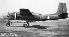 "Douglas XA-26B Invader AAF Ser. No. 41-19588, 5 May 1943, with ""strafer"" nose adaptable to a combination of weapons, including a 75 mm (3 in) cannon."