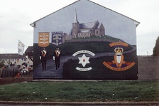 A mural in Northern Ireland supporting the Portadown Orangemen