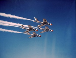 F-84F Thunderstreaks flown by USAF Thunderbirds