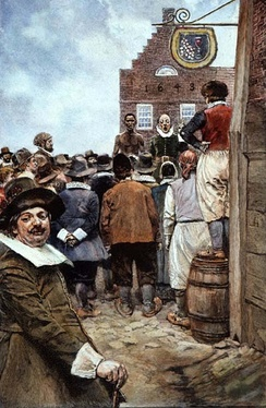 The First Slave Auction at New Amsterdam in 1655, by Howard Pyle.