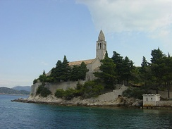 Franciscan convent at Lopud in Croatia