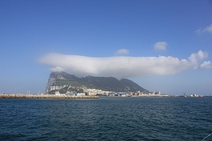 Levant cloud hanging over the Rock of Gibraltar.