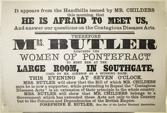 Handbill issued prior to a talk during the Pontefract by-election, 1872