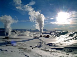 Krafla, a geothermal power station in Iceland