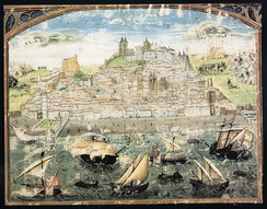 The oldest known image of Lisbon (1500–1510) from the Crónica de Dom Afonso Henriques by Duarte Galvão