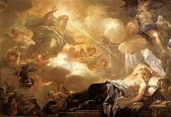 Luca Giordano – Dream of Solomon – God promises Solomon Wisdom.