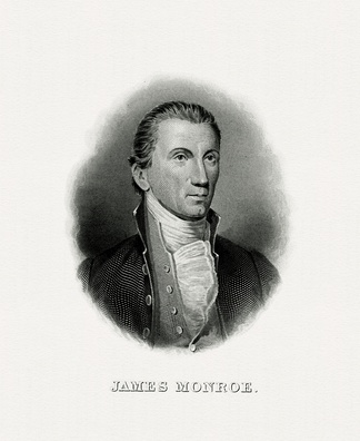 BEP engraved portrait of Monroe as President