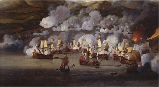The attack on the French ships at Martinique in 1667