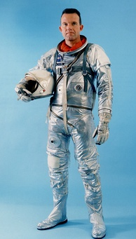Cooper in his Mercury spacesuit, the Navy Mark IV