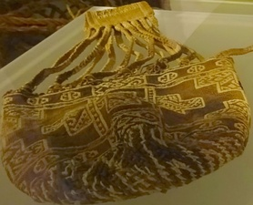 Cotton Muisca textile bag, accompanying the Muisca mummy