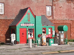 Former Conoco station in Commerce, Oklahoma