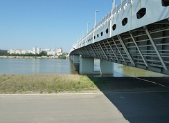 The Sixty Years of Victory Bridge in Omsk. (The name commemorates the 60th anniversary of the V-E Day)