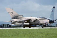 A Panavia Tornado GR.1, much like No. 17 Squadron operated from 1985 to 1999, as well as during Operation Granby.