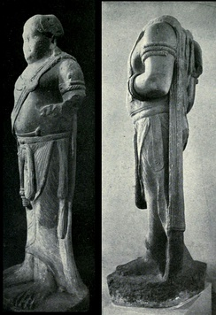The two Yakshas, possibly 3rd century BCE, found in Pataliputra.