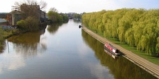 River Nene from Frank Perkins Parkway, Peterborough
