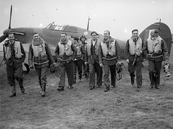 "Pilots of the No. 303 ""Kościuszko"" Polish Fighter Squadron during the Battle of Britain"